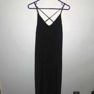 TopShop Button Down Dress Black 6